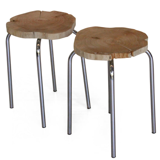 Pair Of Cypress Stools