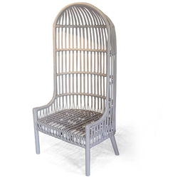 White Rattan Shelter Chair