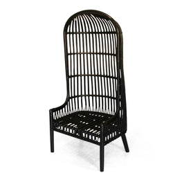 Black Rattan Shelter Chair