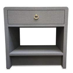 Slate Blue Side Table with Drawer