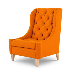 Naomi Wing Chair In Orange