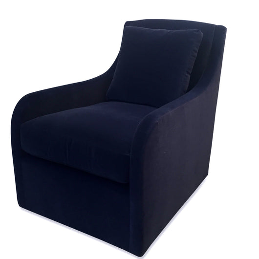Pair of Sophie Navy Swivel Club Chairs