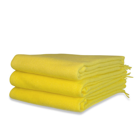 Lemon Wool Throw