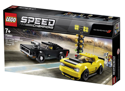 לגו 75893 דודג' צ'לנג'ר - LEGO 75893 2018 Dodge Challenger SRT Speed Champions