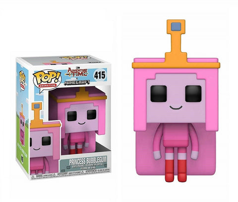 בובת פופ הנסיכה באבלגאם מיינקראפט - Funko Pop Princess Bubblegum 415