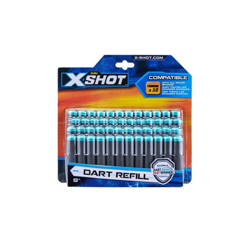 X-SHOT DARTS PACK 50 חיצי ספוג אקס שוט