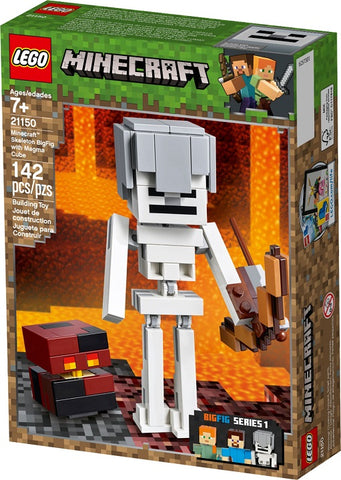 לגו 21150 סקלטון ביג פיג מיינקראפט - Lego 21150 Minecraft Skeleton BigFig with Magma Cube - צעצועים ילדים ודרקונים