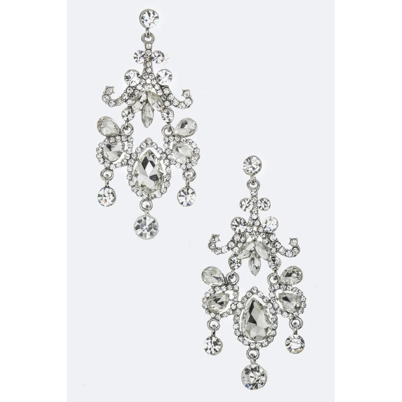 Mix Crystal Chandelier Earrings-Lizzy's Pink Boutique-Lizzy's Pink Boutique