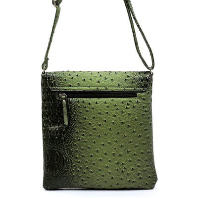 Ostrich Flopover Crossbody