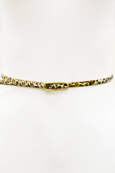 Gold Leopard Print Belt