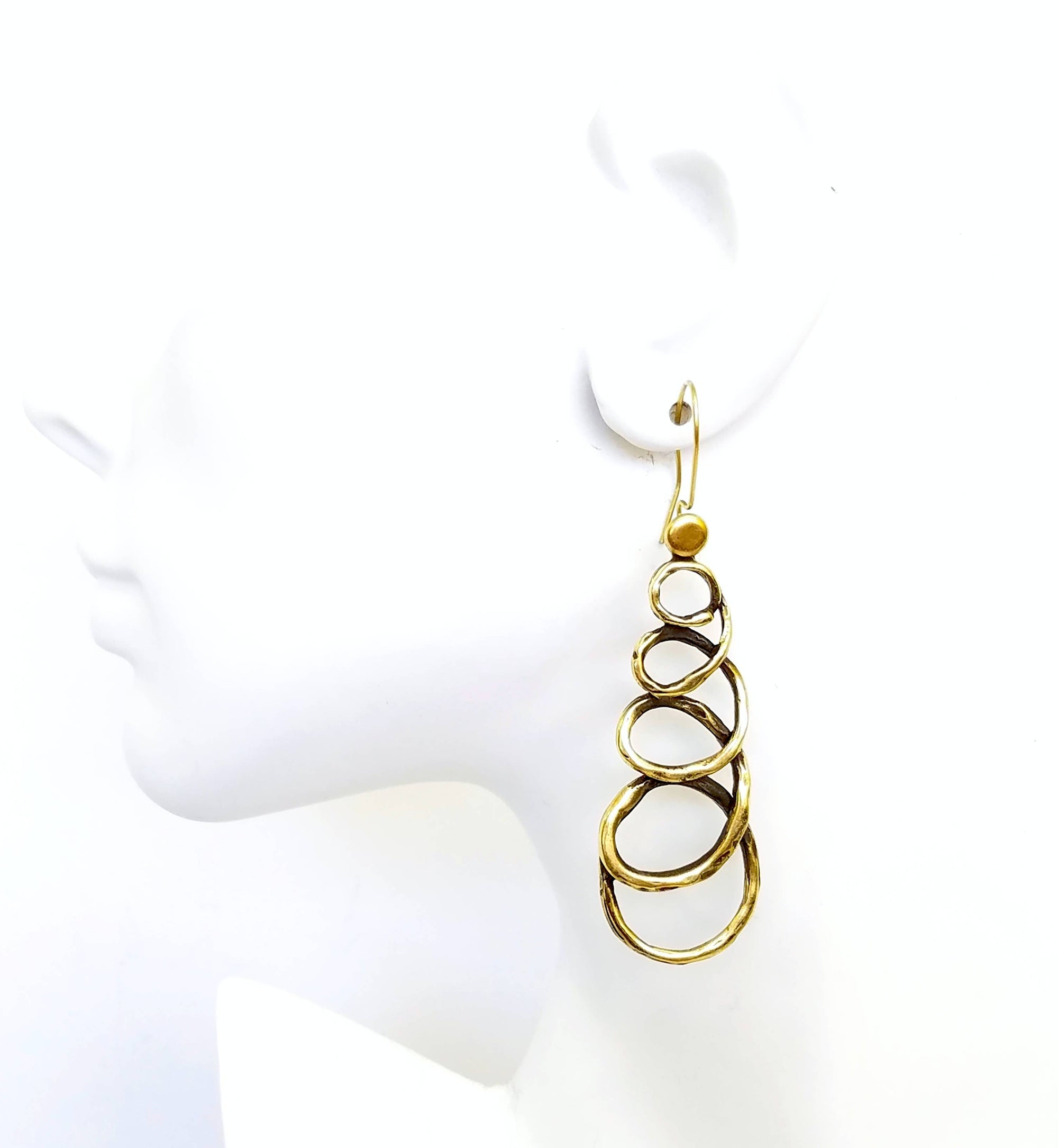 Bronze Loop ala Loop Earrings