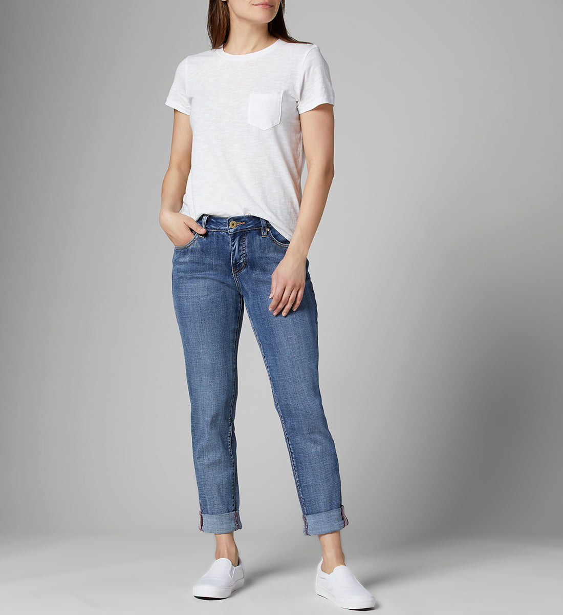 Jag-Carter Mid Rise Girlfriend Jeans