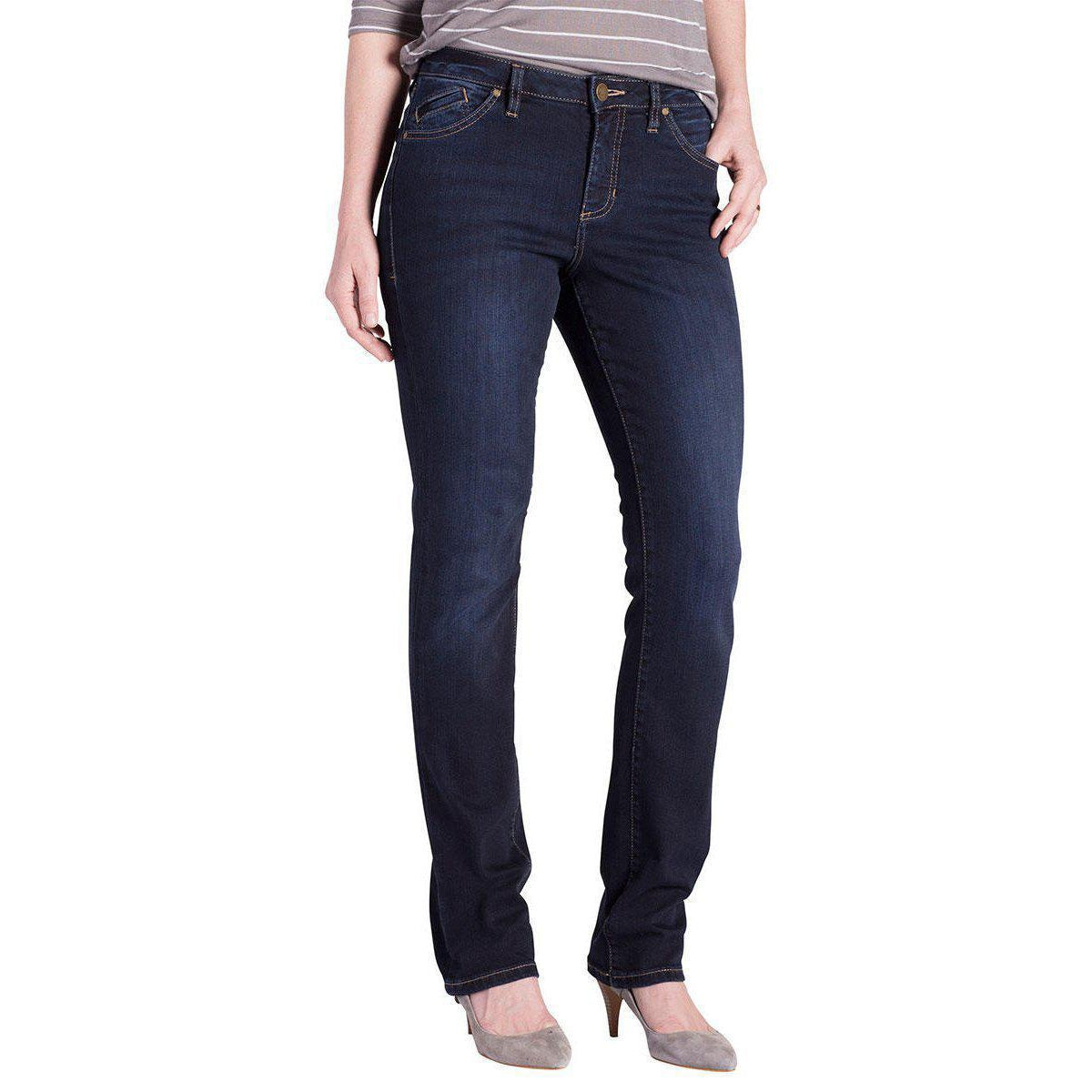 Portia Straight - Dark Denim-Jeans-Lizzy's Pink Boutique