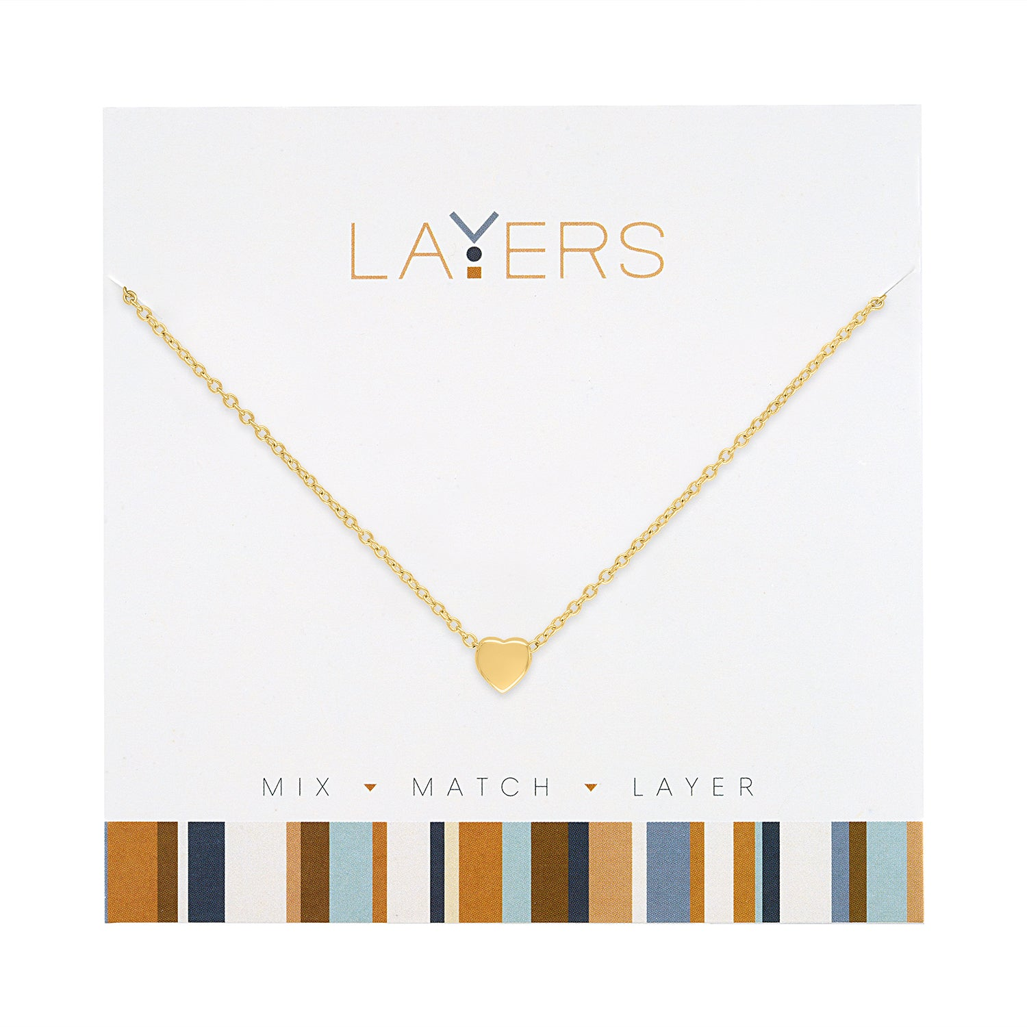 Gold Heart Layers Necklace (NEW)