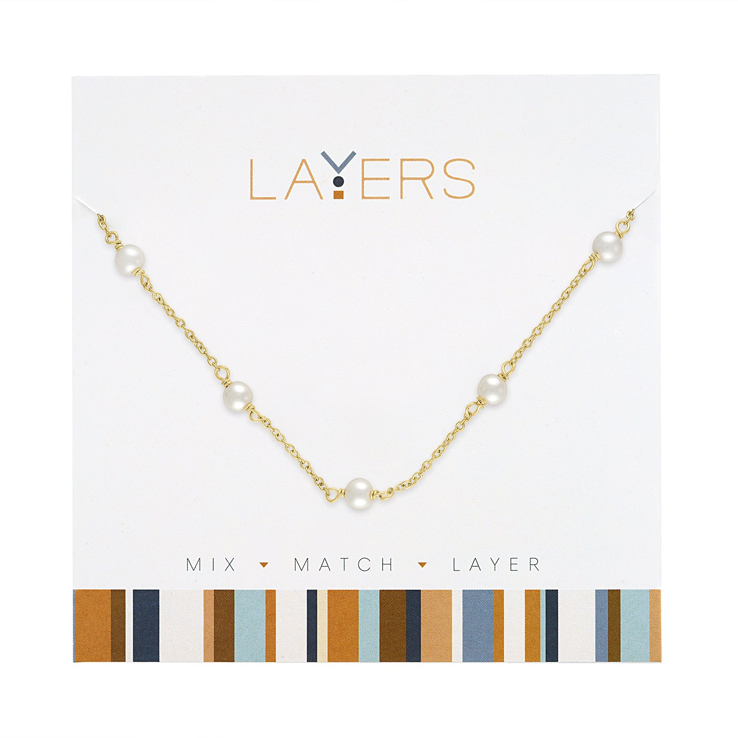 Gold Multi Pearl Layers Necklace (NEW)