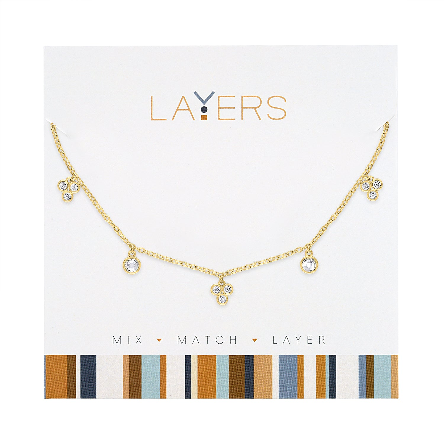 Gold Mini CZ Layers Necklace (NEW)
