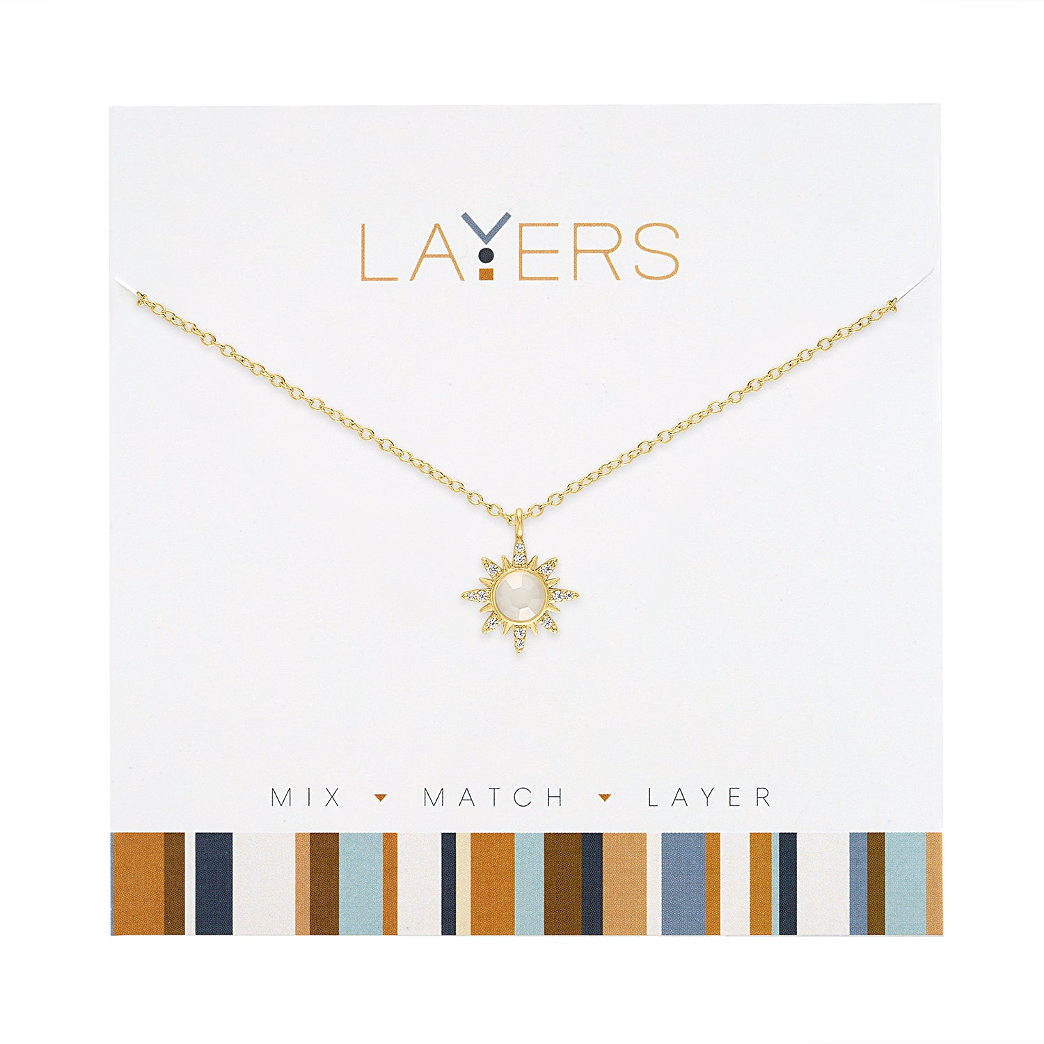 Gold Sunburst Layers Necklace (NEW)