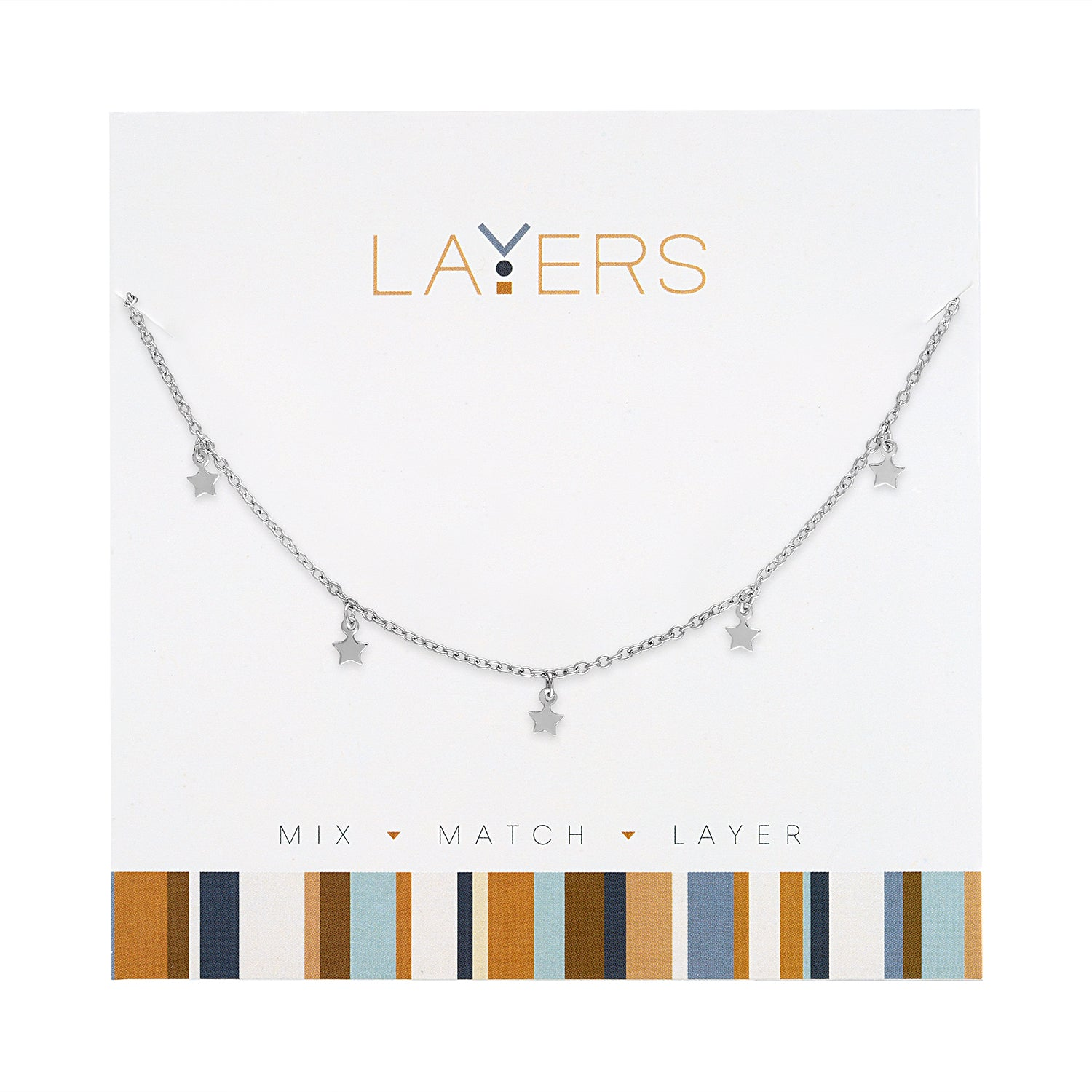 Silver Mini Stars Layers Necklace (NEW)