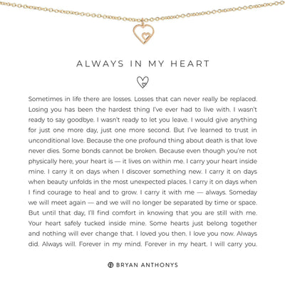Always in My Heart-Necklace-Bryan Anthonys-Gold-Lizzy's Pink Boutique