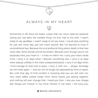 Always in My Heart-Necklace-Bryan Anthonys-Silver-Lizzy's Pink Boutique