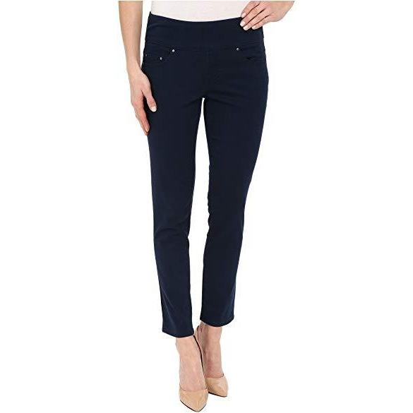 Amelia Slim Pull On-Jeans-Jag Jeans-4-Navy-Lizzy's Pink Boutique