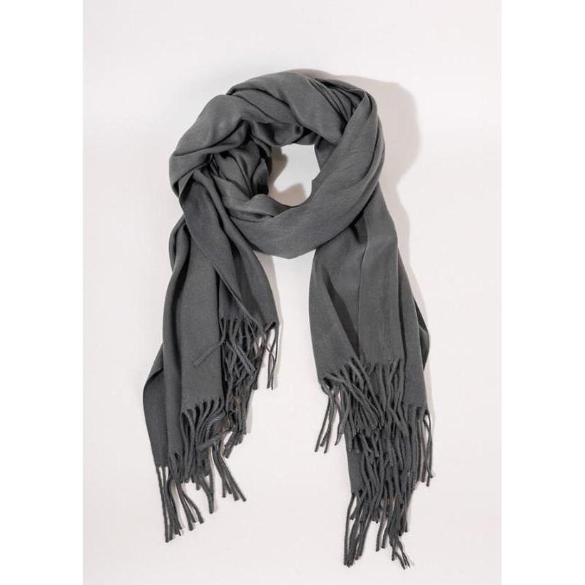 Charcoal Scarf-scarf-umgee-Lizzy's Pink Boutique