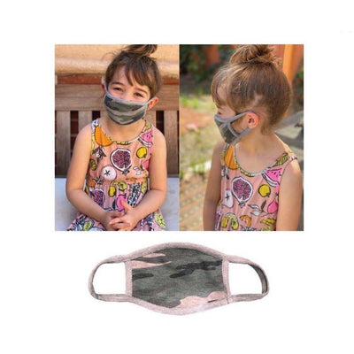 Child Camo Mask-New-Lizzy's Pink Boutique-Child Camo Face Mask-Lizzy's Pink Boutique