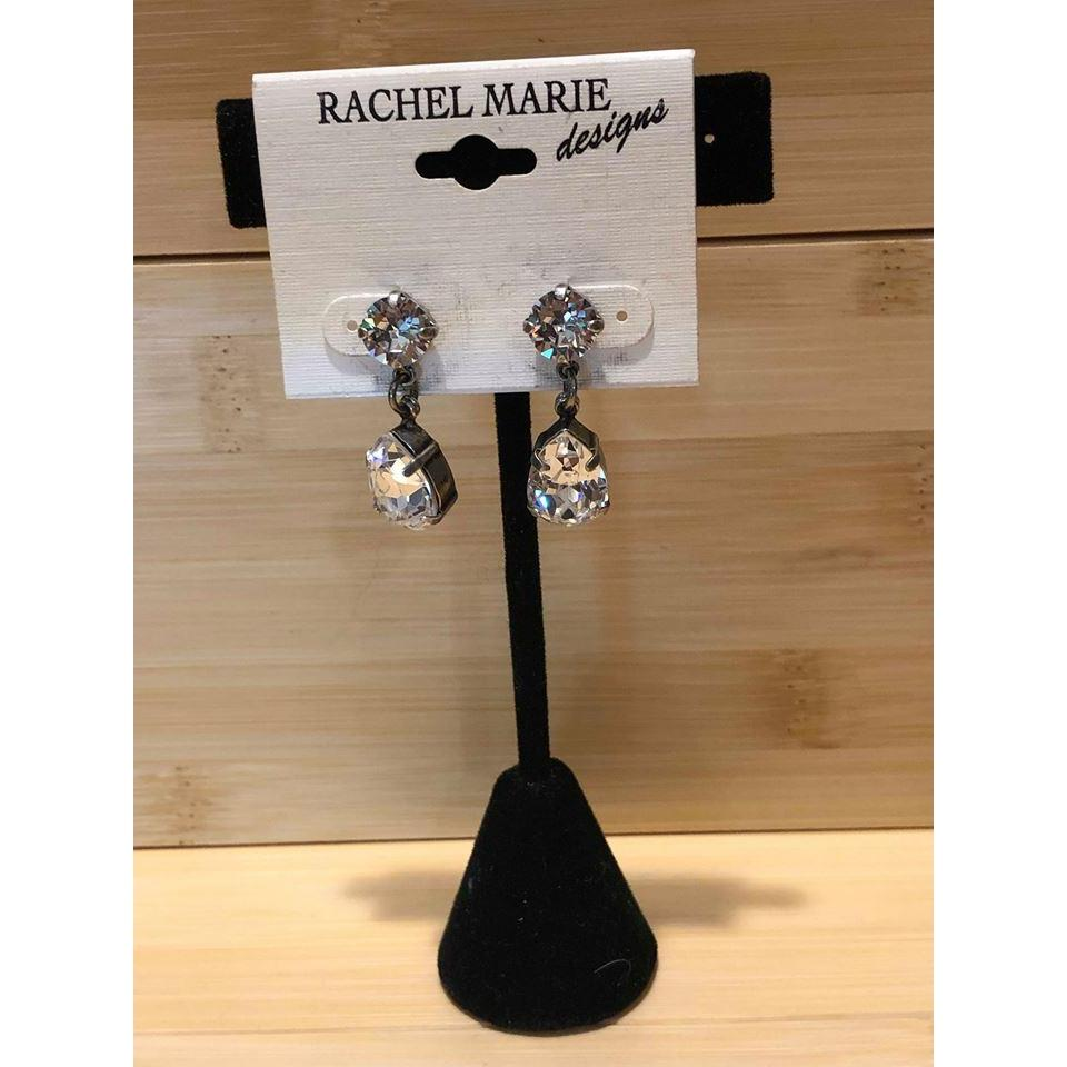 Custom Earrings in Clear-Jewelry-Rachel Marie Design-Lizzy's Pink Boutique