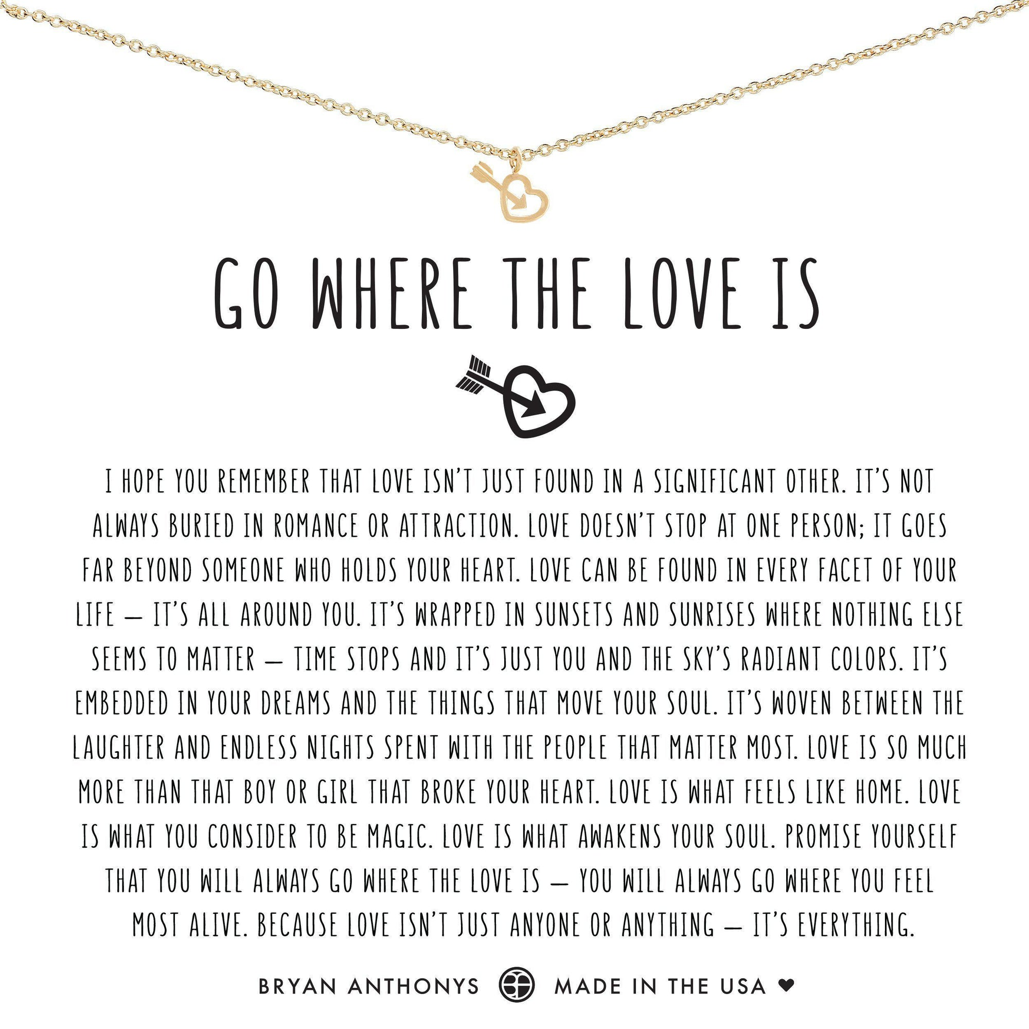 Go Where The Love Is-Bryan Anthony-Bryan Anthonys-Gold-Lizzy's Pink Boutique