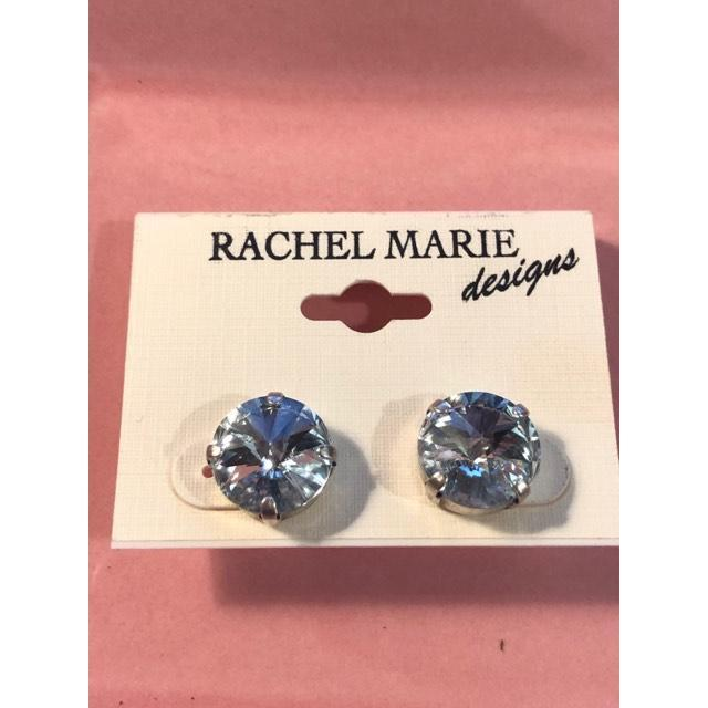 Janna Earrings in Lt. Azore-Jewelry-Rachel Marie Design-Lizzy's Pink Boutique