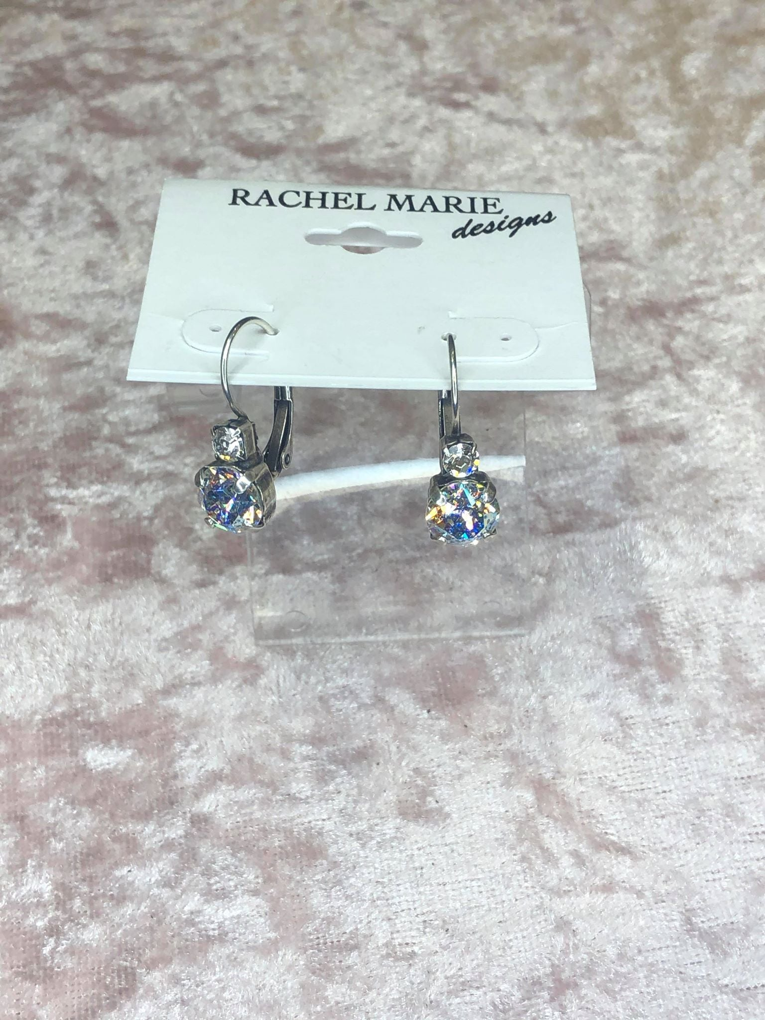 Jordan in Aurora Borealis-Earrings-Rachel Marie Designs-Lizzy's Pink Boutique
