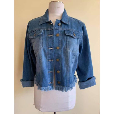 Knoxville Denim Jacket-Jean Jacket-Lizzy Pink Boutique-Lizzy's Pink Boutique