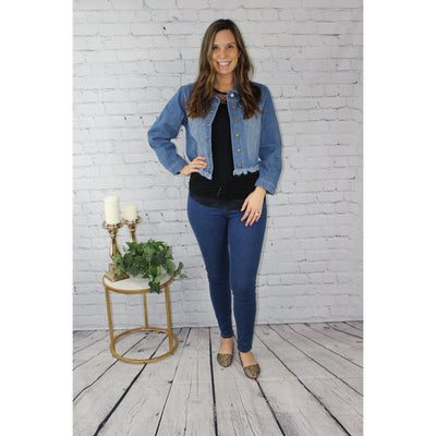 Knoxville Denim Jacket-Jean Jacket-Lizzy Pink Boutique-Small-Lizzy's Pink Boutique