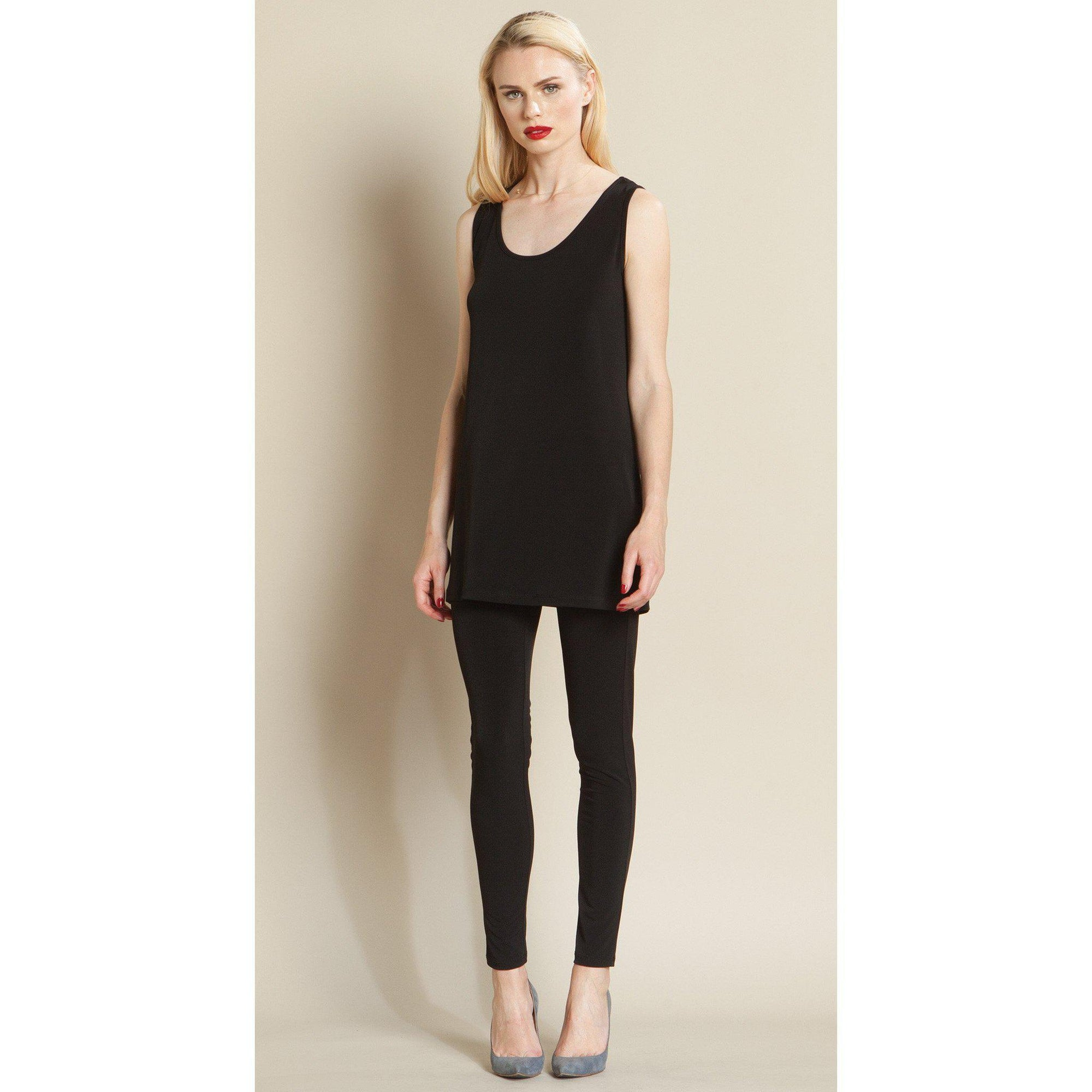 Long Scoop Tank - Solid-Tank-Clara Sun Woo-Small-Black-Lizzy's Pink Boutique