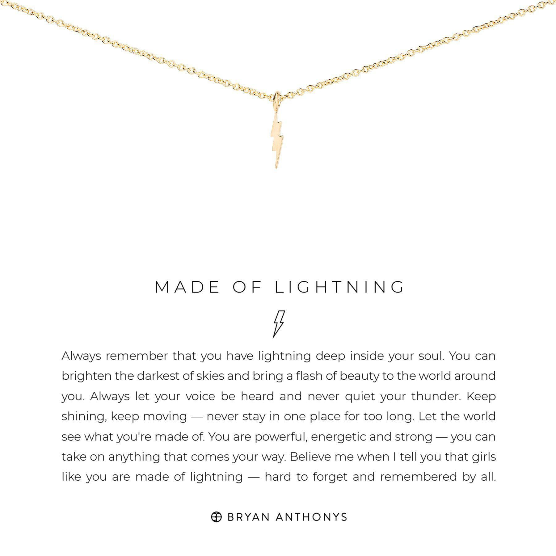 Made of Lightening-Necklace-Bryan Anthonys-Gold-Lizzy's Pink Boutique
