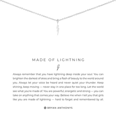 Made of Lightening-Necklace-Bryan Anthonys-Silver-Lizzy's Pink Boutique