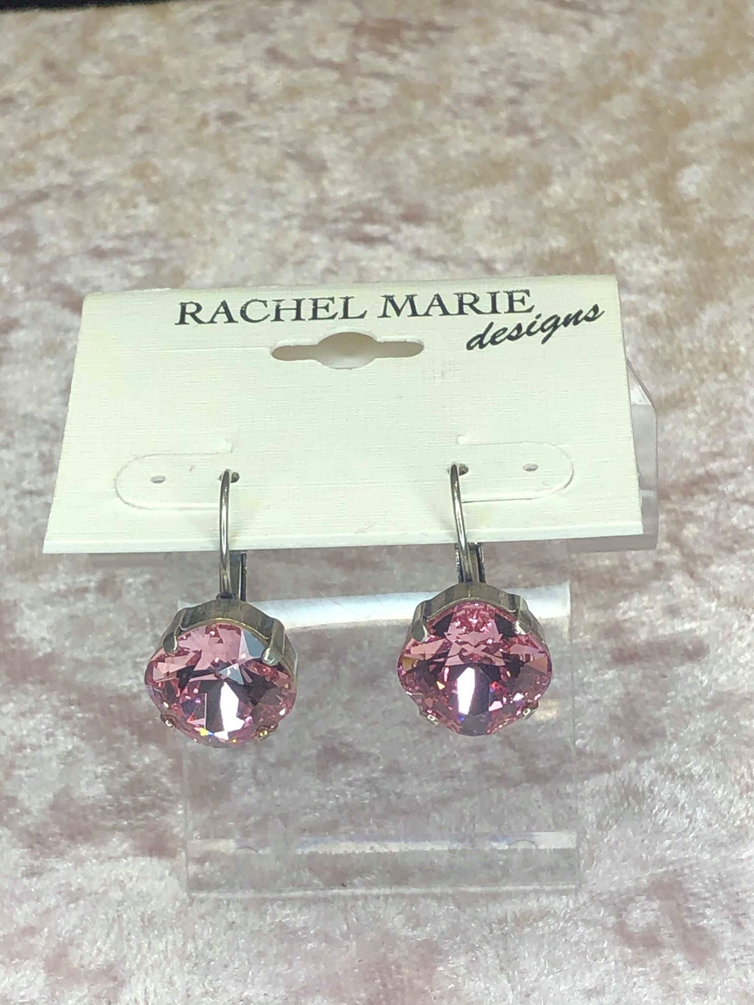 Sandi Earrings in Light Rose-Earrings-Rachel Marie Designs-Lizzy's Pink Boutique