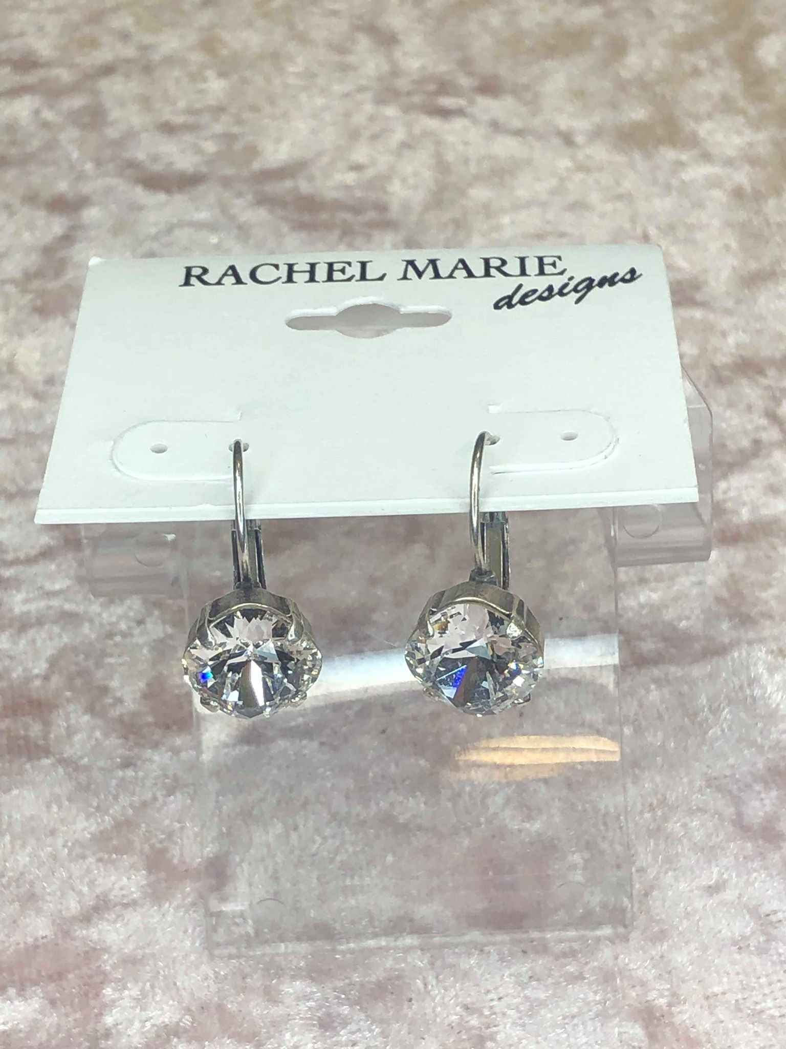 Selma in Clear-Earrings-Rachel Marie Designs-Lizzy's Pink Boutique