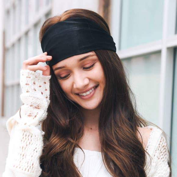Soft Batiste Elastic Wide Headband-Lizzys Pink Boutique-Lizzy's Pink Boutique