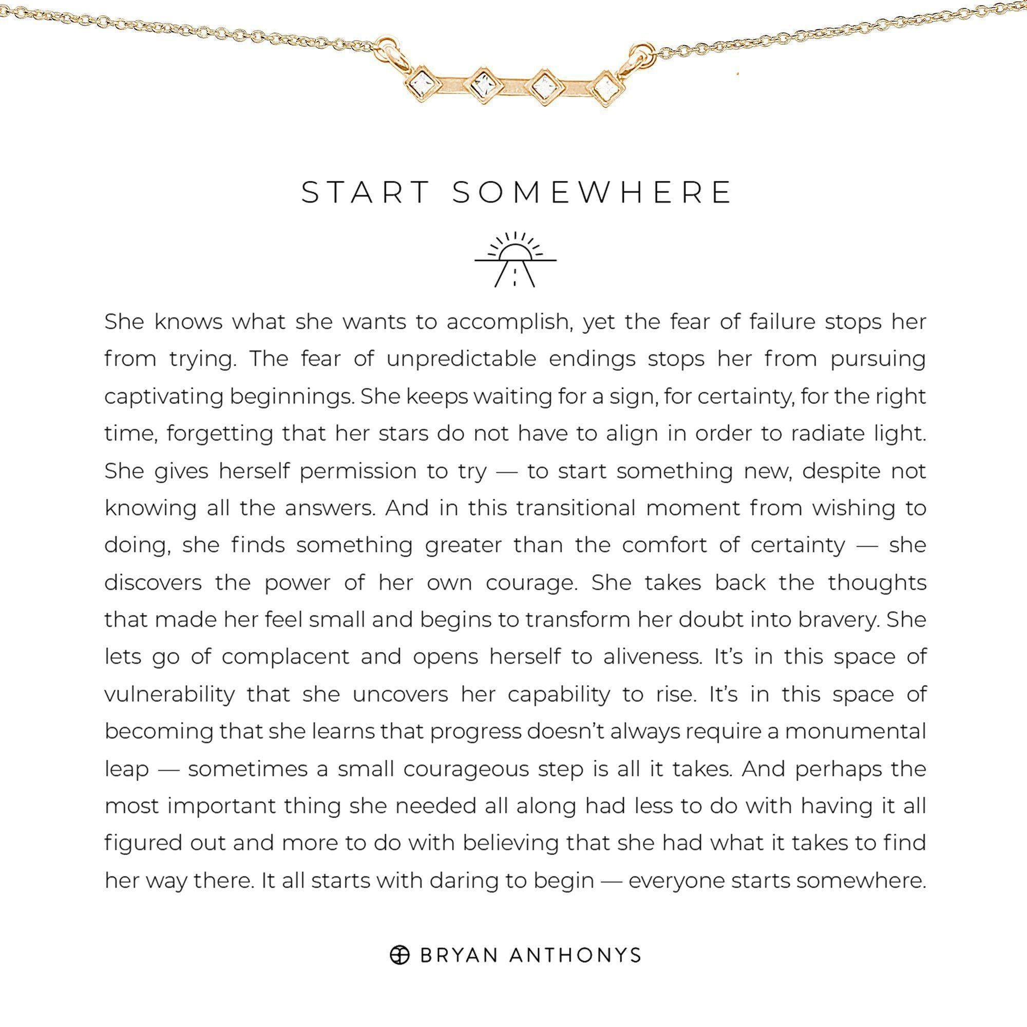 Start Somewhere-Necklace-Bryan Anthonys-Gold-Lizzy's Pink Boutique