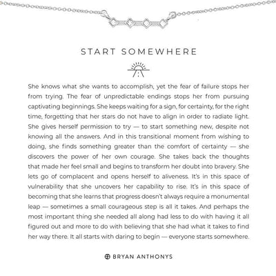 Start Somewhere-Necklace-Bryan Anthonys-Silver-Lizzy's Pink Boutique