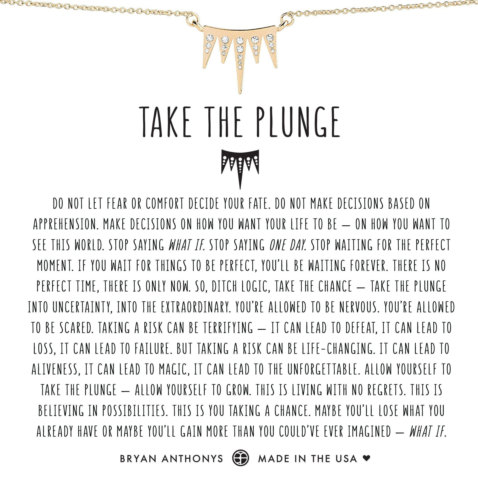 Take The Plunge-Bryan Anthony Necklace-Bryan Anthonys-Gold-Lizzy's Pink Boutique