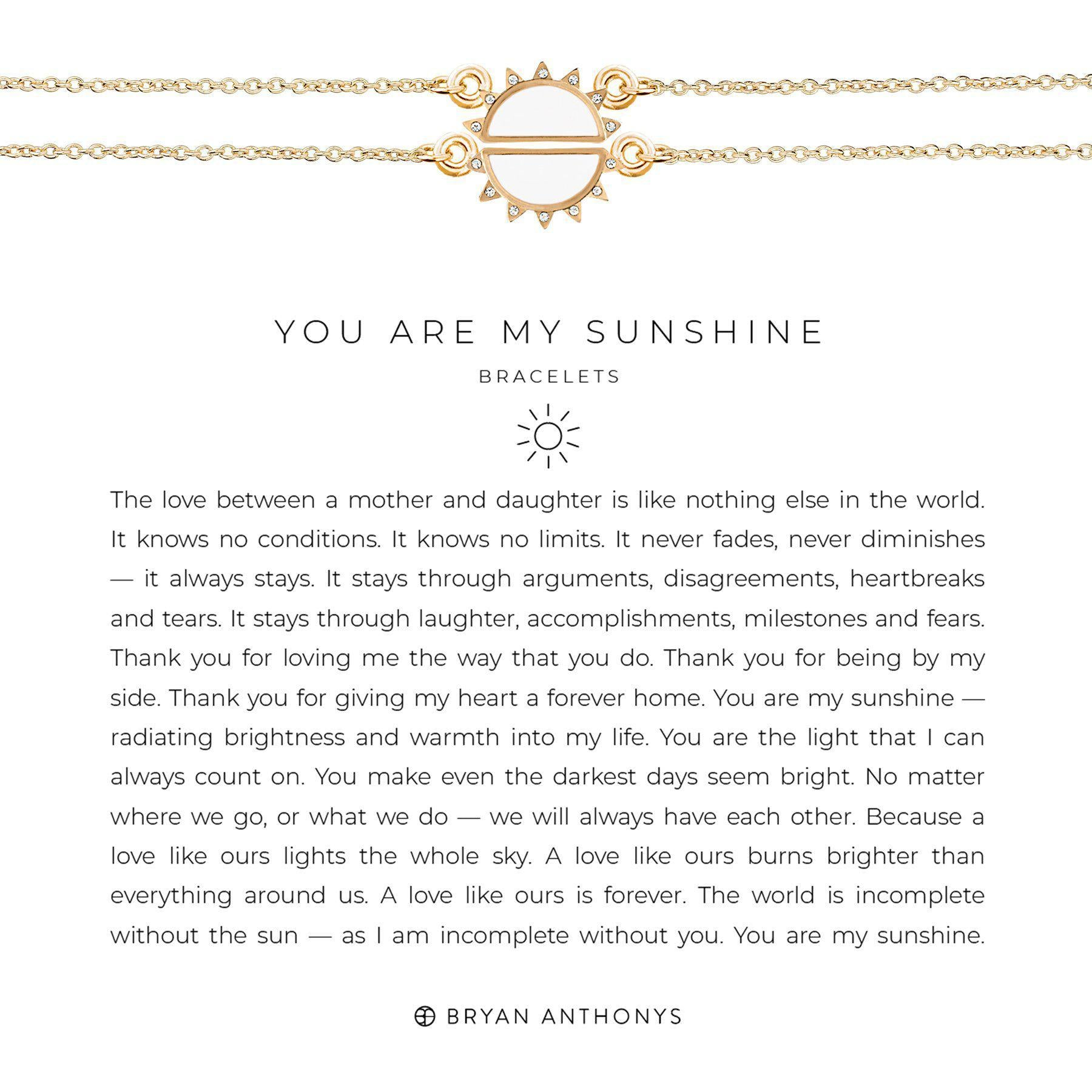 You Are My Sunshine Bracelet-Necklace-Bryan Anthonys-Gold-Lizzy's Pink Boutique