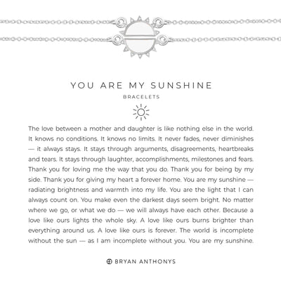 You Are My Sunshine Bracelet-Necklace-Bryan Anthonys-Silver-Lizzy's Pink Boutique