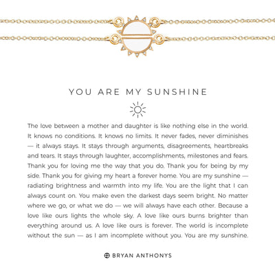 You Are My Sunshine Necklace-Necklace-Bryan Anthonys-Gold-Lizzy's Pink Boutique