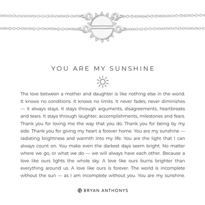 You Are My Sunshine Necklace-Necklace-Bryan Anthonys-Silver-Lizzy's Pink Boutique