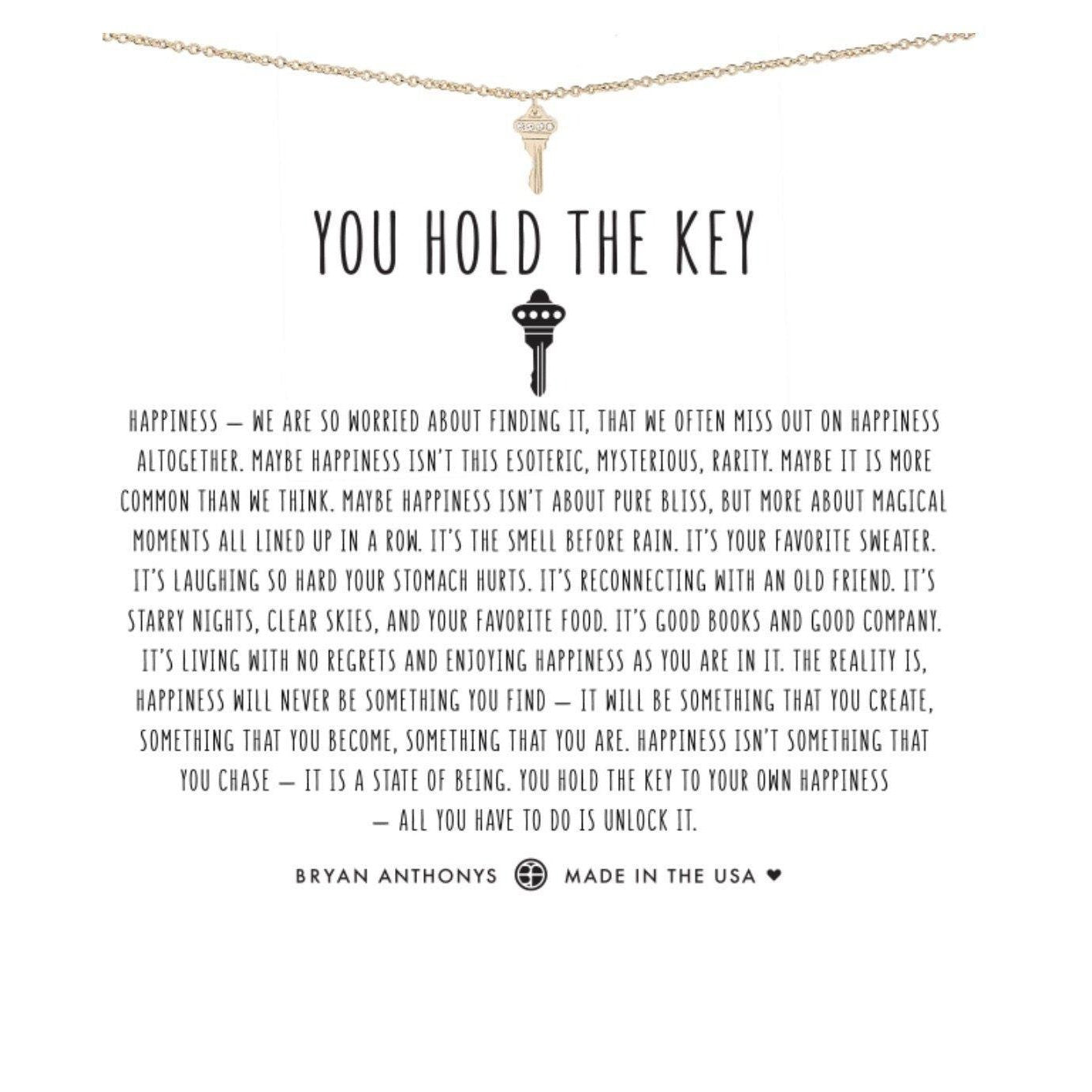You Hold The Key-Jewelry-Bryan Anthonys-Gold-Lizzy's Pink Boutique