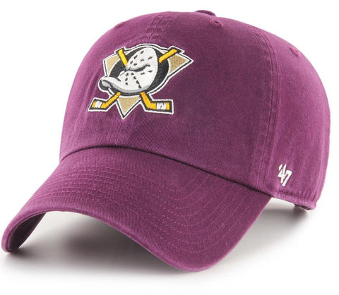 Anaheim Ducks 47 Brand Clean Up NHL Team Plum Cap