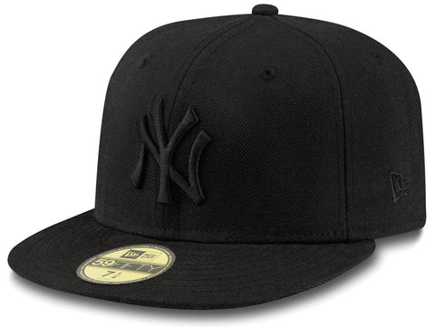 New York Yankees New Era 59Fifty MLB Black On Black Baseball Cap - lovemycap