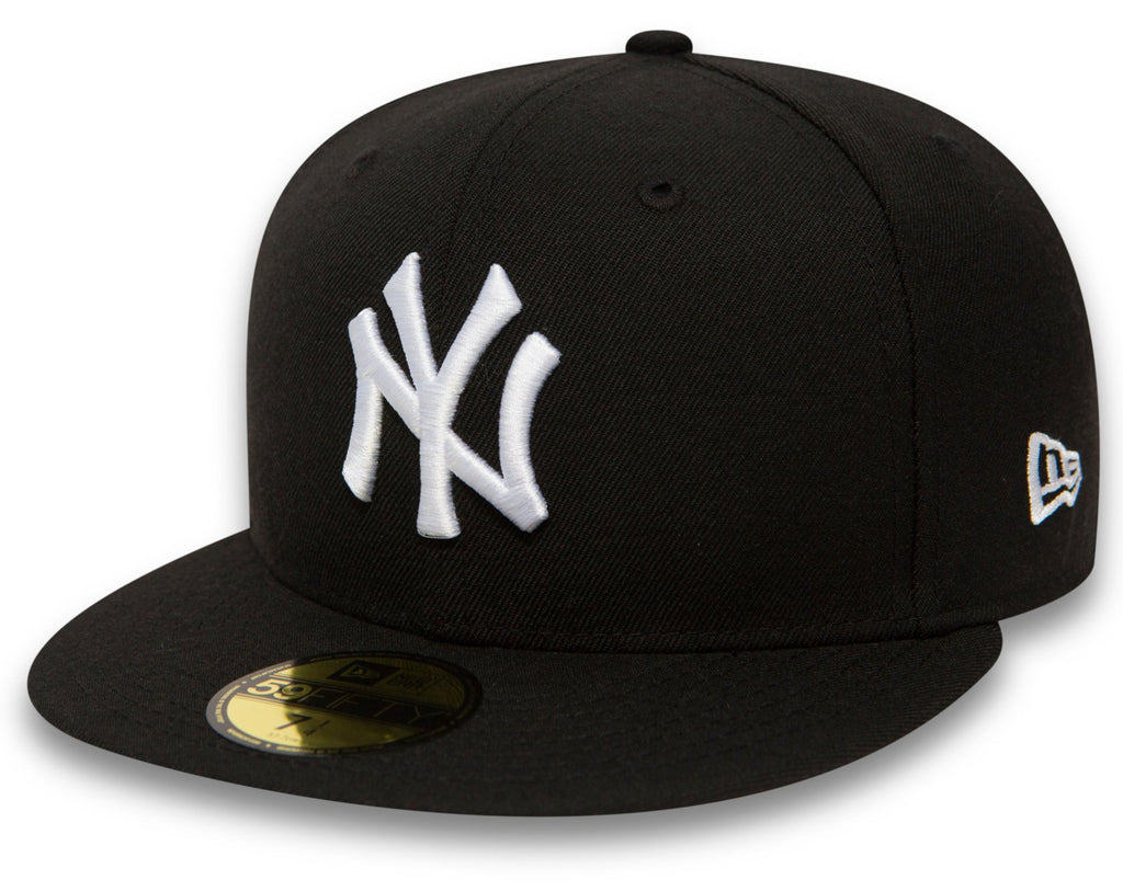 New York Yankees New Era 59Fifty MLB Black/White Baseball Cap - lovemycap
